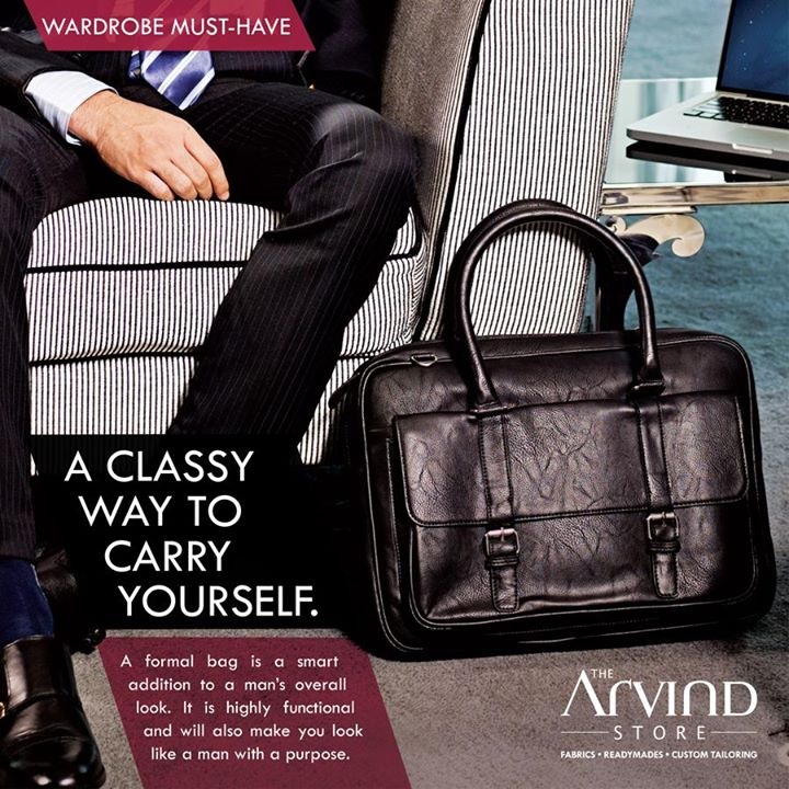 Classy way to #Carry yourself!   #WardrobeMustHave #MensFashion #TheArvindStore #TAS