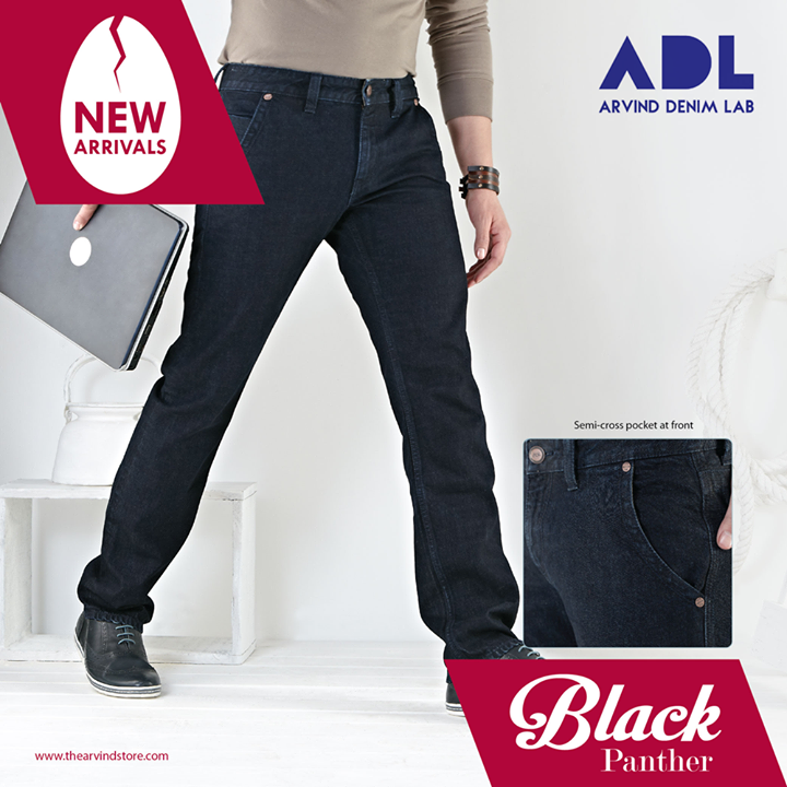 The Arvind Store,  Black, Denim, ADL, MensFashion, TAS, TheArvindStore, Fashion