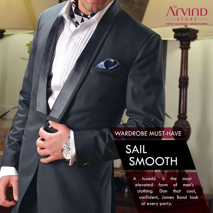 Keep a smart #Tuxedo handy!  #WardrobeMustHave #MensFashion #TAS #TheArvindStore
