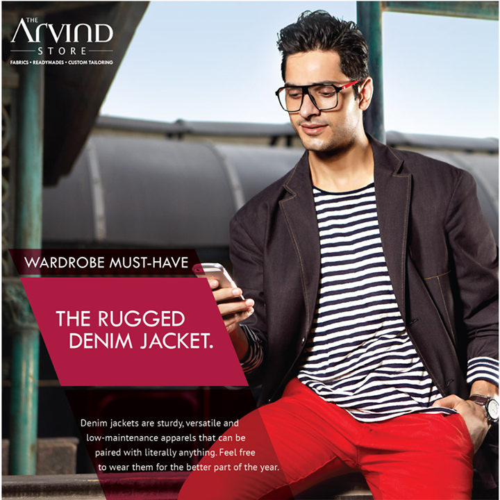 The #Rugged #DenimJacket is a must-have in your wardrobe!    #WardrobeMustHave #MensFashion #TheArvindStore #TAS