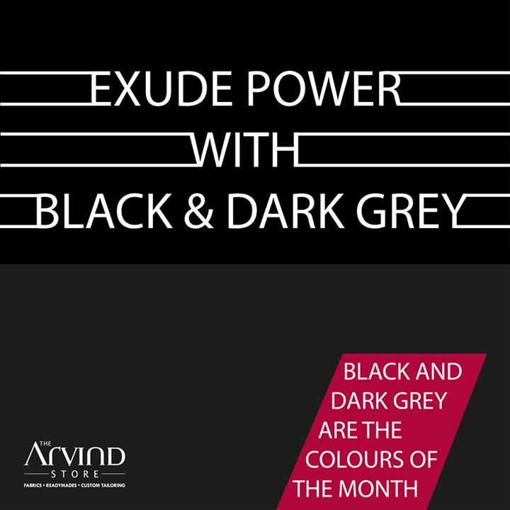 Don't we all love #Black & #DarkGrey as colors?  #ColouroftheMonth #MensFashion #TAS #ArvindStore