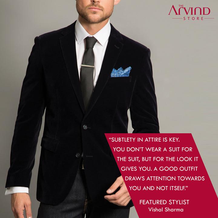 Subtlety in attire is key!  #MensFashion #TAS #TheArvindStore #FeaturedStylist