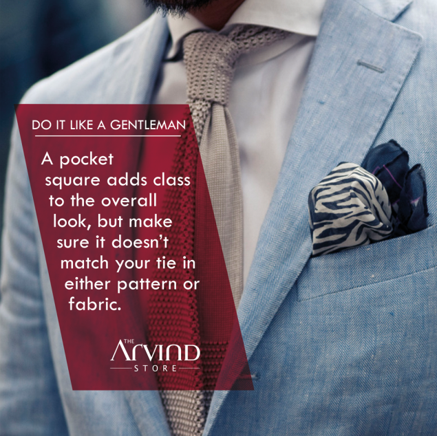 Add a #Class to your #look with a #PocketSquare!   #DoItLikeaGentleman #TheArvindStore #MensFashion #TAS