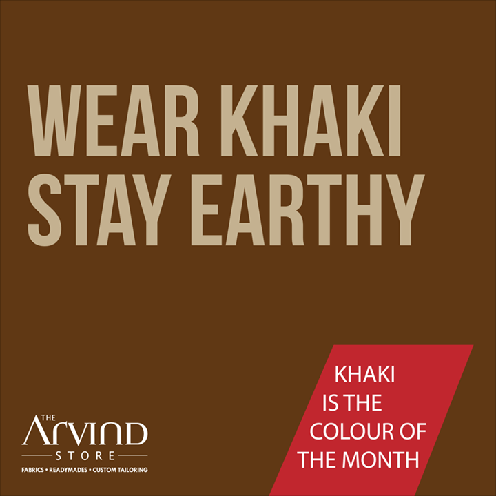 Is #Khaki your favorite color?  #MensFashion #TAS #TheArvindStore #Style #Colorofthemonth