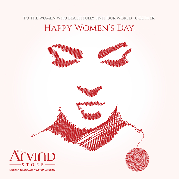 Wishing you a day that's just like you… really special!  #HappyWomensDay #Ahmedabad #BeUnstoppable #TheArvindStore #MensFashion