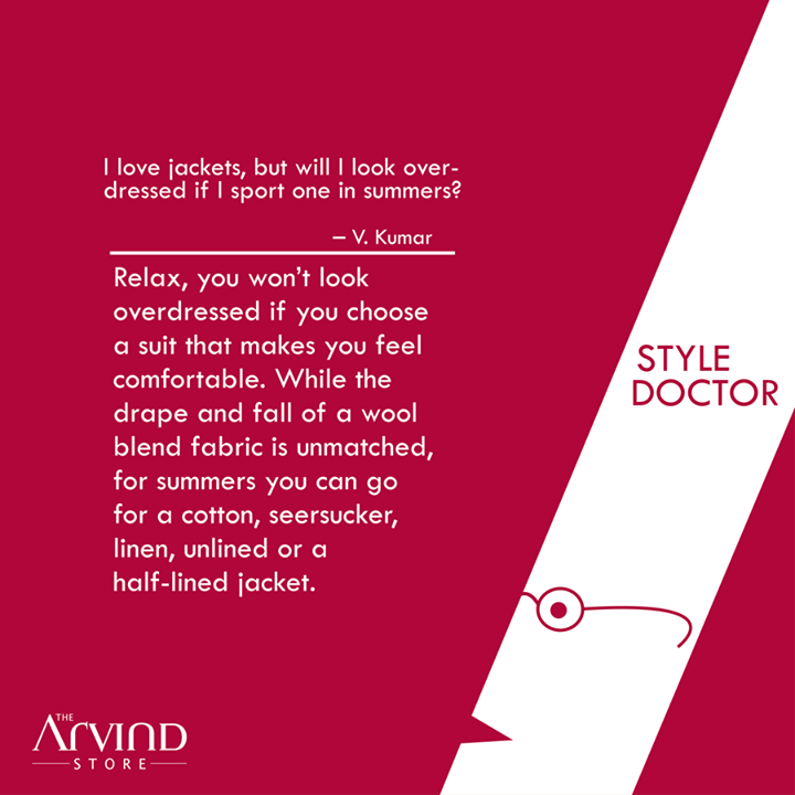 Style doubts? Ask the #StyleDoctor!  #MensFashion #TheArvindStore #TAS