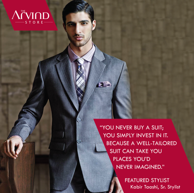 A well-tailored suit, can take you places..  #Fashion #FeaturedStylist #TheArvindStore #MensFashion