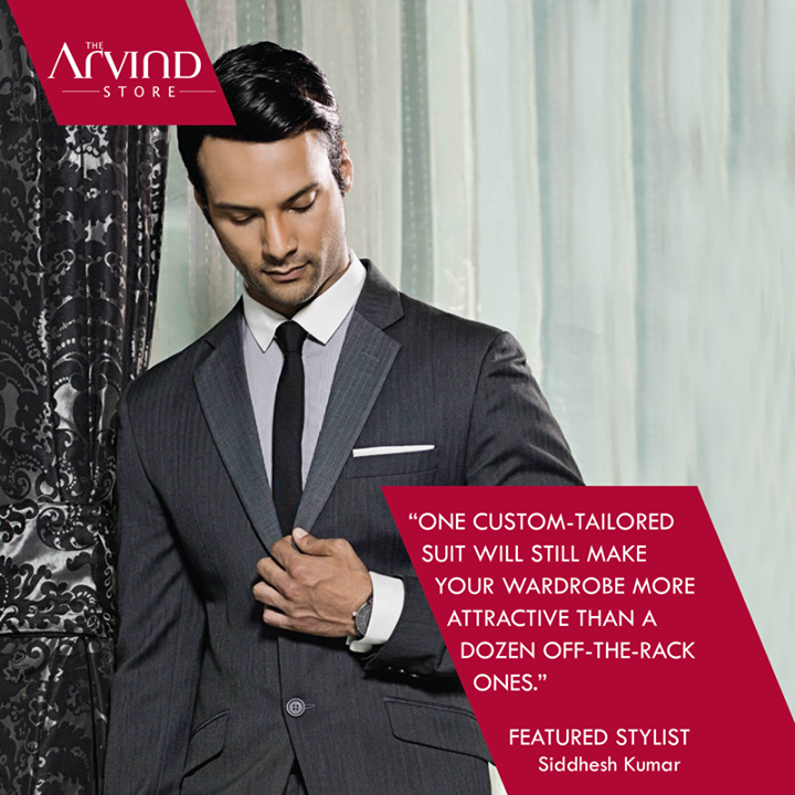 Invest in a #CustomTailored suit..  #Fashion #FeaturedStylist #TheArvindStore #MensFashion