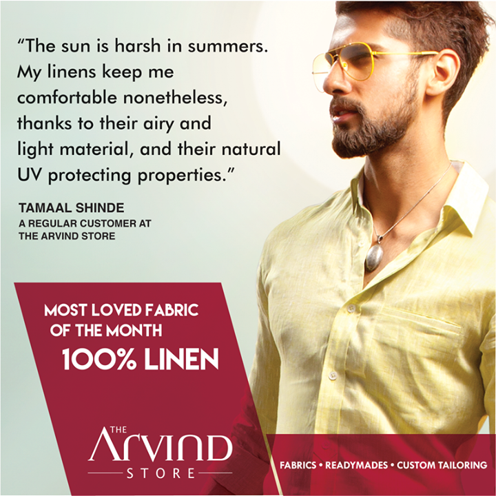 Which is your most loved #fabric in #Summers?  #Fabricofthemonth #TAS #TheArvindStore #MensFashion