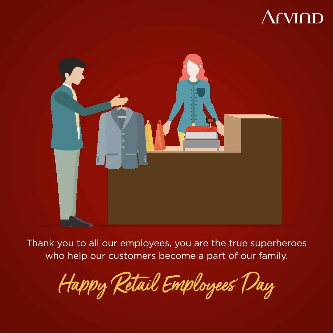 Always bridging the gap between Product and People.  Celebrating you today. #HappyRetailEmployeesDay