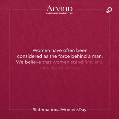 It is often believed that women stand behind men, as men reach the zenith of success. Whereas, women have paved a path of success for themselves. Today, we celebrate the firsts of Indian women from different walks of life. Kudos to women, who stand first! Happy Women's Day! . . #gentlemenfashion #premiumclothing #mensclothes #everydaymadewell #smartcasual #fashioninstagram #dressforsuccess #itsaboutdetail #whowhatwearing #thearvindstore #classicmenswear #mensfashion #malestyle #authentic #arvind #menswear #customshirts #customtailoring #bespoketailoring #InternationalWomensDay #IWD2020  #EachForEqual #WomenEmpowerment