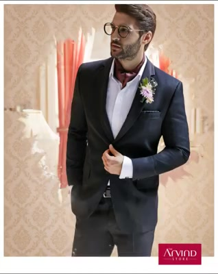 Wedding receptions are usually a lot of fun. Infuse it with opulence by donning this premium black cut & sew notch lapel suit from our Handcrafted Ceremonial Collection. Book an appointment today - http://bit.ly/TASBookAnAppointment