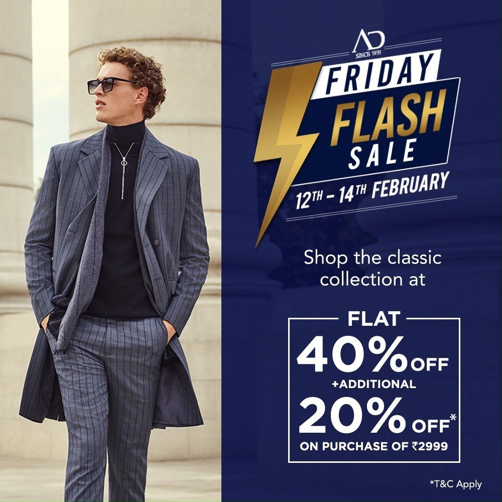 Complete your looks with AD shirts, t-shirts, trousers, jackets and much more at FLAT 40% OFF + additional 20% OFF* on purchase of Rs.2999.   Wishlist Now at arvind.nnnow.com . . . #ADfashion #ArvindFashion #TheArvindStore #FridayFlashsale #FridaySale #2021sale #discounts #Menswear #MensFashion #Fashion #style #comfortable #classicmenswear #texturedfabrics #firstimpressions #dressforsuccess #StayStylish