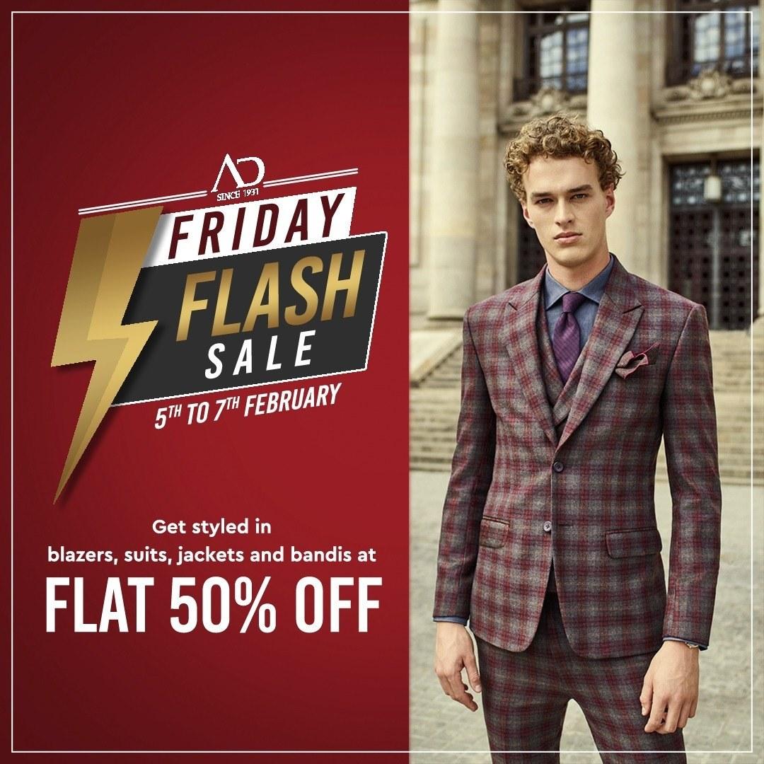 Introducing the Friday Flash Sale. Tune in to get blazers, suits, jackets and bandis at FLAT 50% OFF. Sale starts on 5th-7th February.   Wishlist now at arvind.nnnow.com . . . #ADfashion #ArvindFashion #TheArvindStore #FridayFlashsale #FridaySale #2021sale #discounts #Menswear #MensFashion #Fashion #style #comfortable #classicmenswear #texturedfabrics #firstimpressions #dressforsuccess #StayStylish
