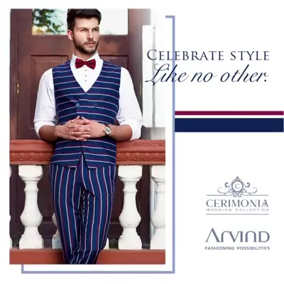 Weddings are a place to stand out and what better way to do it than by throwing on something from the Arvind Cerimonia collection? Try it now!  #ArvindFashioningPossibilities #ArvindCerimonia #ArvindForWeddings #TheArvindStore #mensfashion