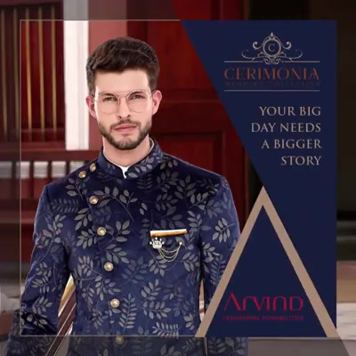 Planning to attend a wedding? Don this stylish Bandhgala from our Cerimonia Wedding Collection, and tie the knot in style. #ArvindForWeddings