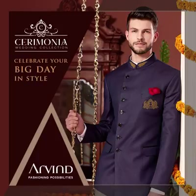 Look nothing short of perfection on your big day with our Cerimonia Wedding Collection.  #ArvindForWeddings