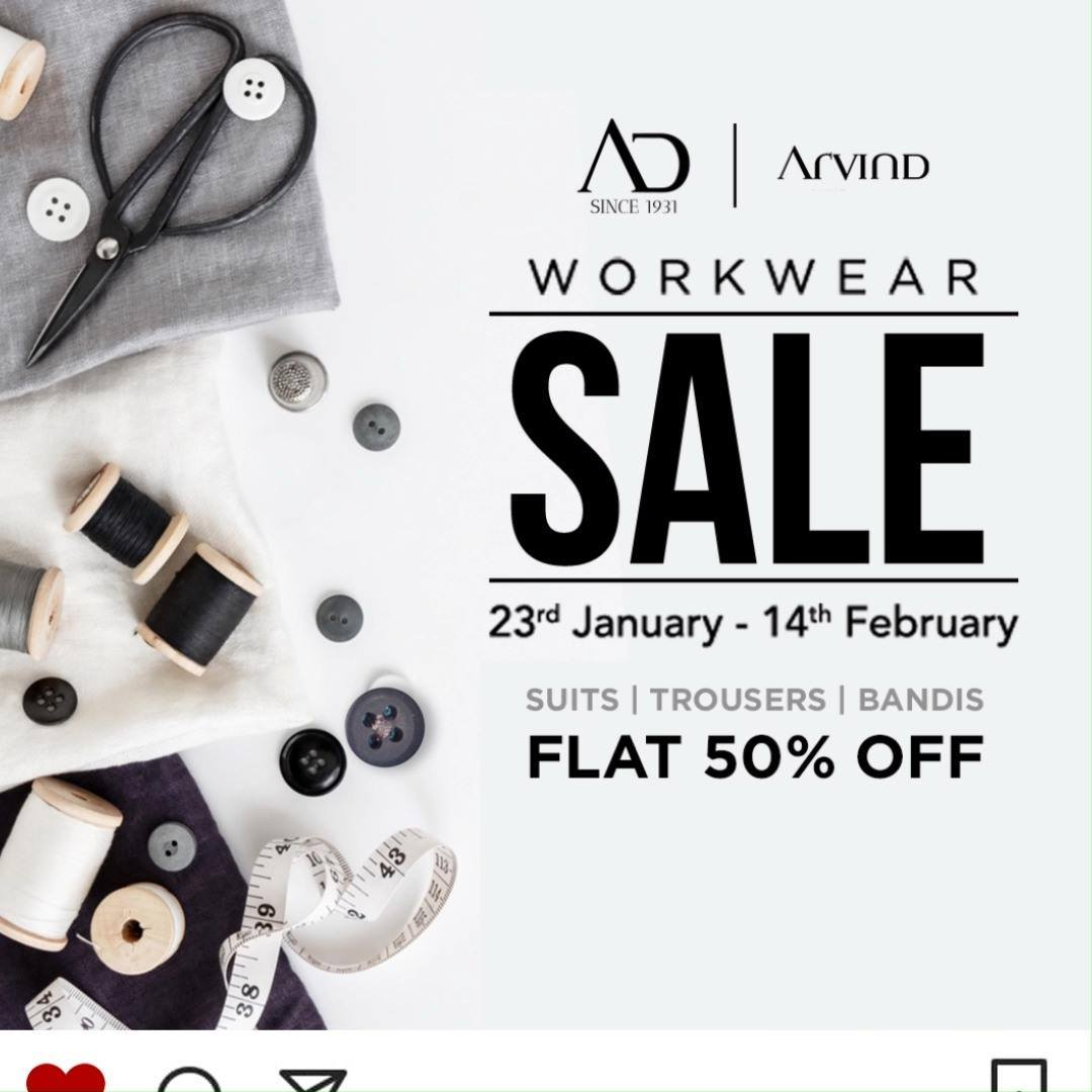 Back to work sale is here! Get ready to splurge less but get more from Arvind Workwear collection at FLAT 50% OFF. Sale is only till 14th February.   Shop now at arvind.nnnow.com . . . #ADfashion #ArvindFashion #TheArvindStore #Workwearsale #2021sale #workwear #formals #discounts #Menswear #MensFashion #Fashion #style #comfortable #classicmenswear #texturedfabrics #firstimpressions #dressforsuccess #StayStylish