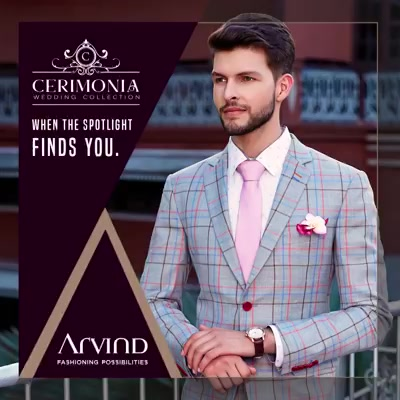 Sway this wedding season with our premium poly viscose suits from the Cerimonia Collection! #ArvindForWeddings #TheArvindStore #ArvindFashioningPossibilities
