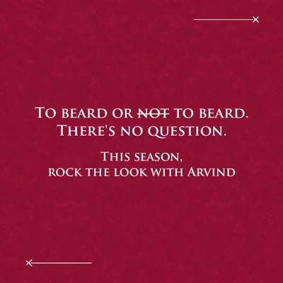 It's #NoShaveNovember! That time of the year when you sport your beard not just to make a style statement, but also spread awareness about men's health. So here's you, gents - rock your beards with Arvind ready to wear and custom tailored suits and blazers.