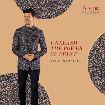 When you're living #TheSnazzLife, you can just about pull off anything, from prints to florals. All from the Arvind Antalya Range  #ArvindFashioningPossibilities #menswear #mensuits #menstyle #Prints #Patterns