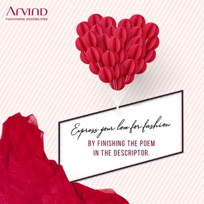 Take part in Arvind's #ArvindOdeToFashion contest and stand to win a voucher worth Rs. 1000 /-. Comment below with your response with #ArvindFashioningPossibilities #ArvindOdeToFashion  Stanza 2