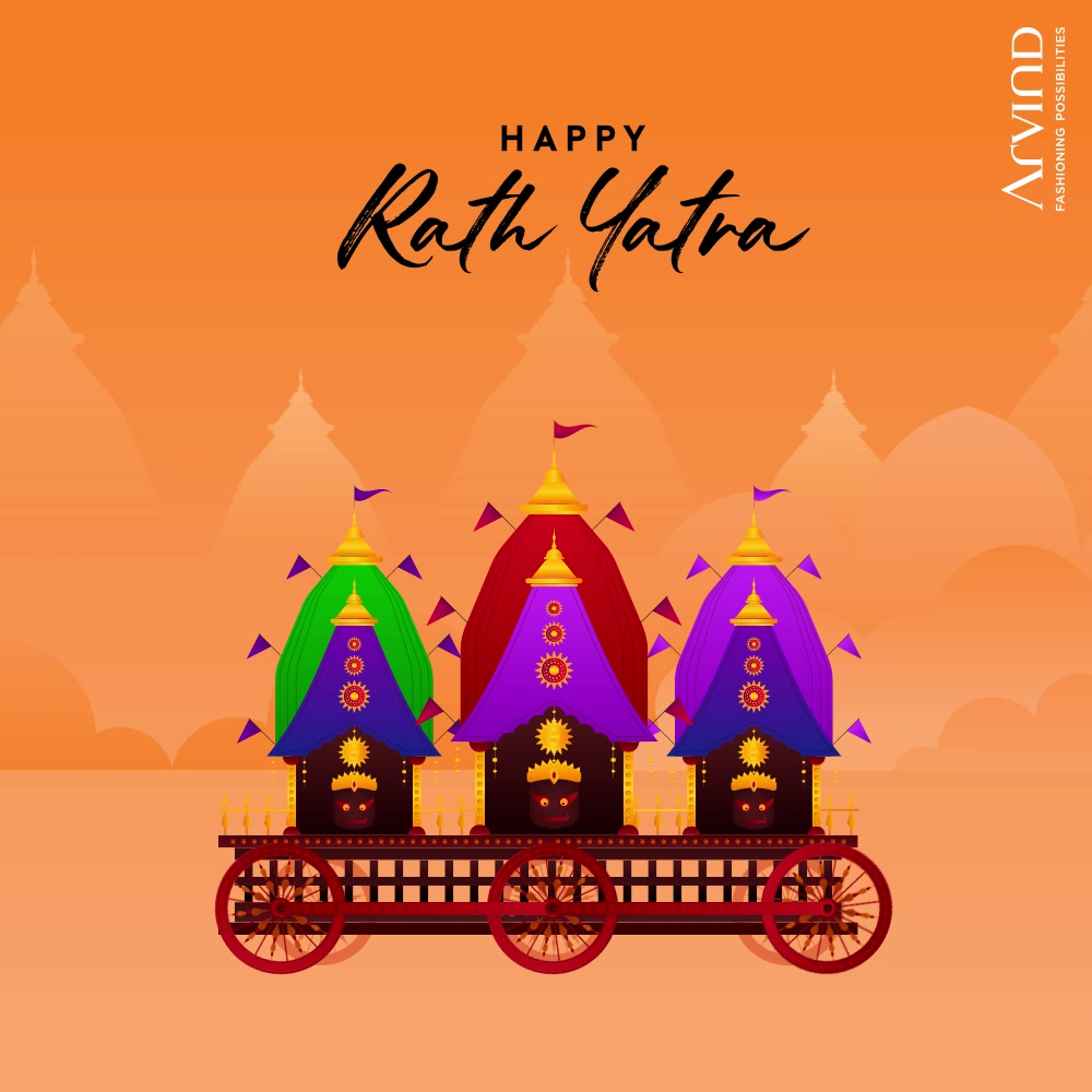 Happy Rath Yatra. May Lord Jagannath bless the world with health, wealth and happiness.  #RathYatra #RathYatra2021  #Prayers #Happiness  #Arvind