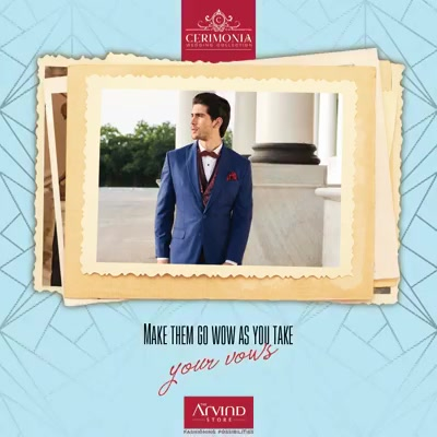 Go made to measure on your wedding day with our exclusive Cerimonia Collection.  #ArvindForWeddings