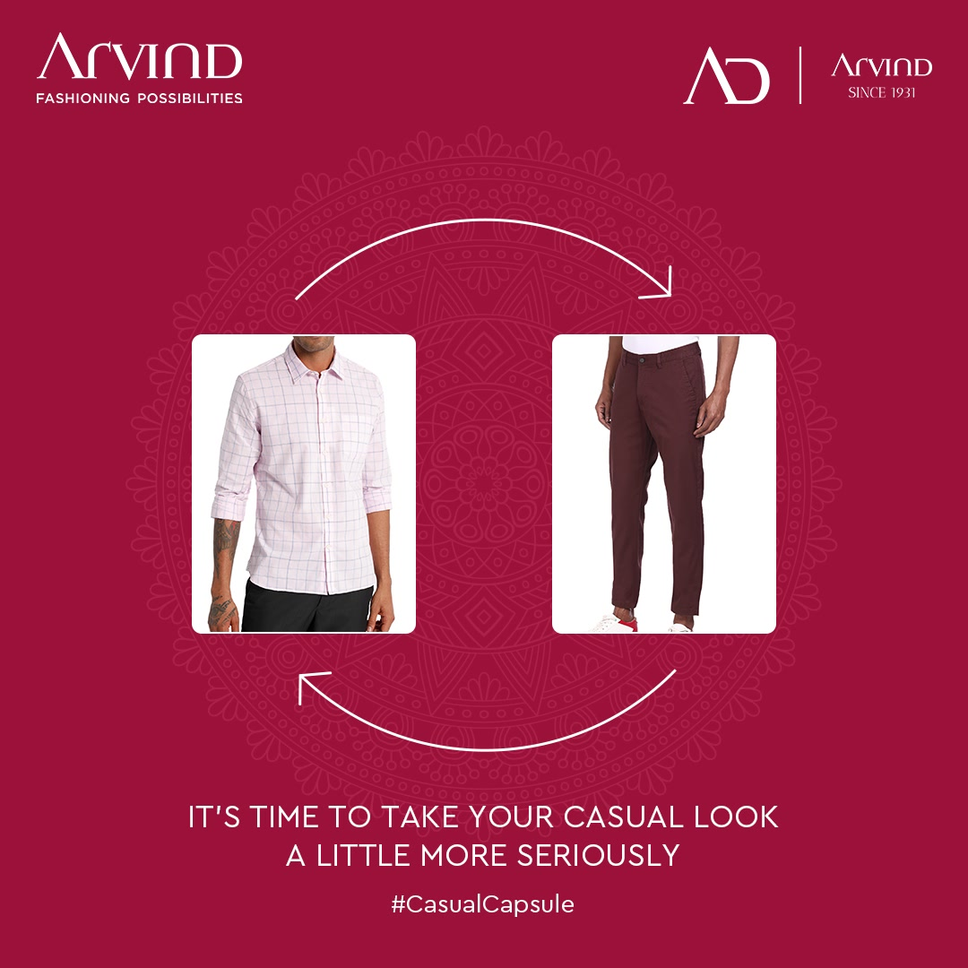 Discover the smart casual style; It is time to take the casual looks a little more seriously with Arvind Casual Capsule.  Shop Now: https://arvind.nnnow.com/clothing?p=1&category=Jeans--Polo%20Shirts--T-Shirts--Jackets  #SmartCasualStyle #CasualCapsule #Arvind #Menswear #FashioningPossibilities #CharismaOfCasualWears #Casuals #CasualStyle #WeekdayStyle #Comfortable #StayCool